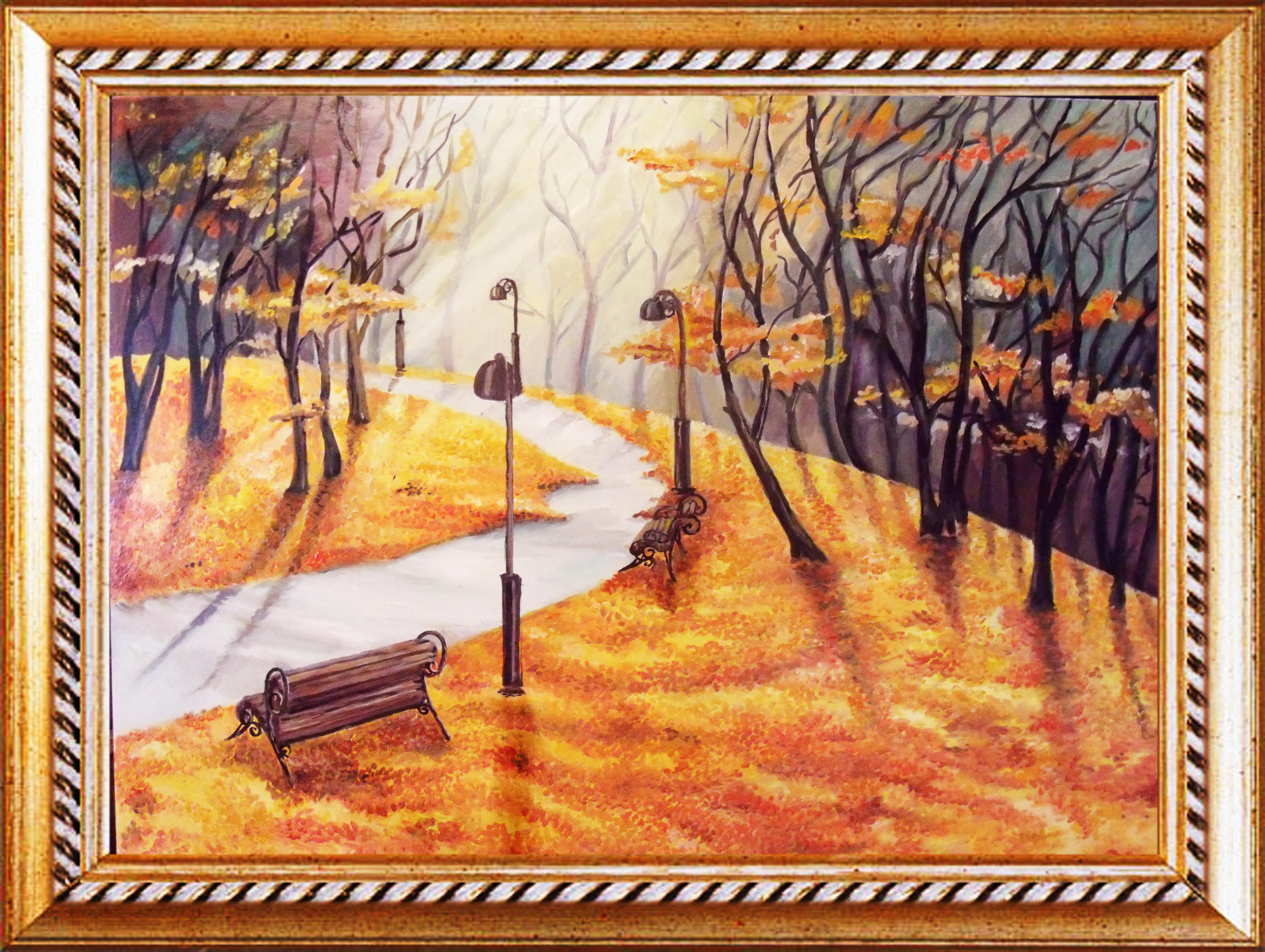 Картины маслом осенний пейзаж